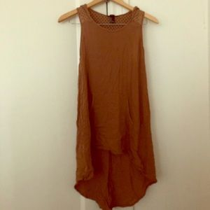 Brown High Low Dress
